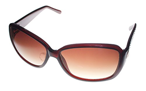 Kenneth Cole Reaction Womens Brown Rectangle Plastic Sunglass KC1179 50F ()