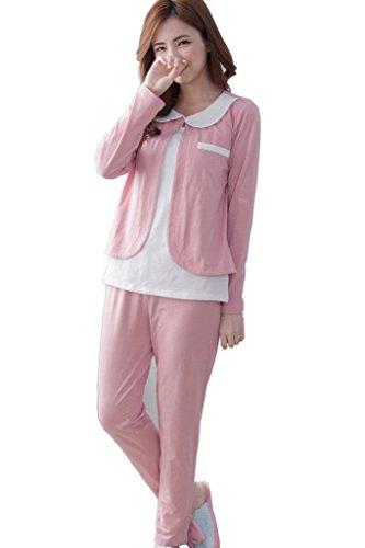 bearsland mujeres del verano algodón Lactancia Materna de maternidad y pijama de lactancia Rosa