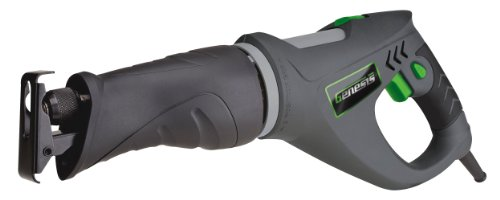 Genesis GRS550 5.5 Amp Variable Speed Reciprocating Corded Saw with 5 Position Pivoting cutting head, Rubber Ergonomic Grip, Tool-Less Blade Change, Wood Blade and Metal blade, and Allen wrench by Genesis