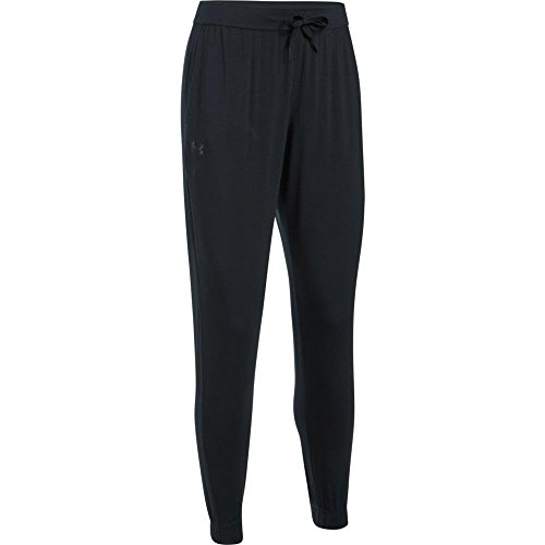 Under Armour Women's Athlete Ultra Comfort Recovery Pants Sleepwear, Black/Carbon Heather, Small