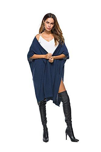 Hellblau Outerwear Confortevole Pullover Giacca Monocromo Donna Manica Baggy Giovane Maglia Autunno Outwear Moda Di A Lunga qZxnaSwBR