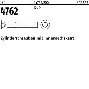 100 Inbus Zylinderkopfschrauben ISO 4762 12.9 schwarz M3x8