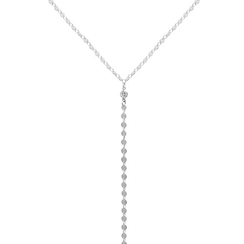 Off Silver Bead (White Gold Simple Beads Choker Necklace Silver Metallic Choker Necklace Beaded Chain Womens Chokers Necklace, Gifts for Women)