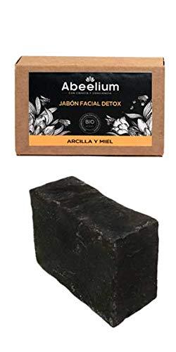 Abeelium | Jabon Facial Exfoliante Fuerte con Arcilla, Piedra Volcánica y Miel Detox | Limpia e hidrata en profundidad - Producto Natural y Ecológico ...