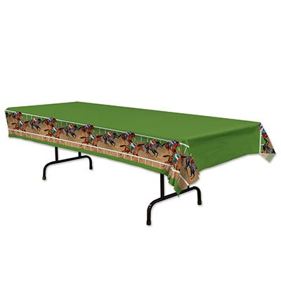 Beistle 54621 Horse Racing Table cover, Pack Of 12