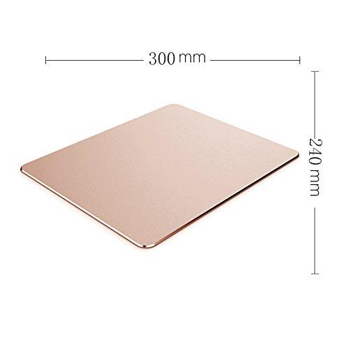 YQOOO Mauspad Aluminium Büro Spielhaus, Rosa Gold 300X240Mm B07C1ZTLMD | Moderne und stilvolle Mode