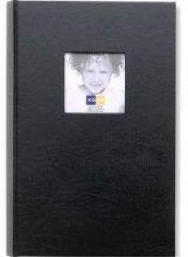 Kolo Hudson, 12-1/4x8'' Leather Bookbound Picture Album, With Soft White Pages, Holds 300 4x6'' Photos, 3 Per Page, Color: Black