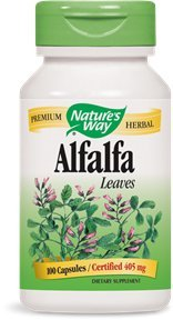 Nature's Way Alfalfa Leaves (COG), 100 Capsules (Pack of 2)