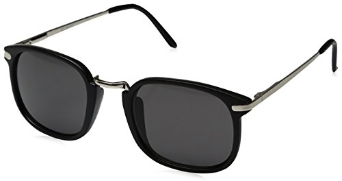 A.J. Morgan Mister Rectangular Sunglasses, Matte Black, 50 mm
