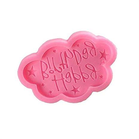 Sunlera Feliz Cumpleaños Molde decoración de la Torta de la Forma DIY de la Nube de