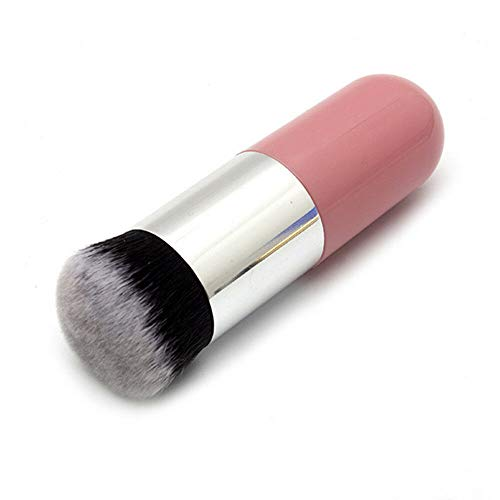 - Round Head Liquid Foundation Brush Pro Powder Makeup Brushes Face Make up Tools (Color - Pink Silver)