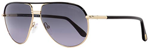 Tom Ford FT 0285/S Cole Sunglasses 01B Shiny Gold Black/Grey Gradient Smoke 61 ()