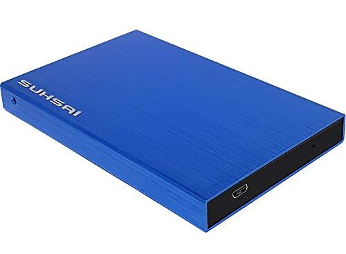 Suhsai Draagbare externe harde schijf opslag back-up gegevens, films, muziek externe harde schijf 2.0 USB compatibel…