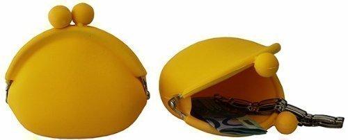 Avcibase amarillo de silicona cartera 10 cm Clip Monedero ...