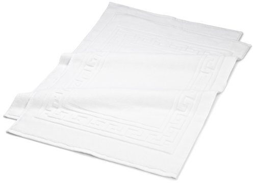 - Superior Hotel & Spa Quality Bath Mat Set of 2, Made of 100% Premium Long-Staple Combed Cotton, Durable and Washable Bathroom Mat 2-Pack - White, 22