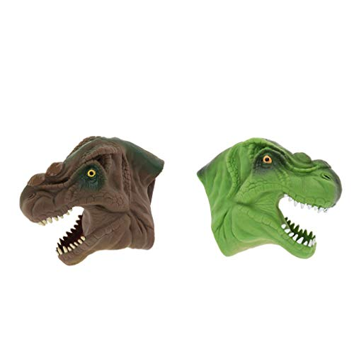 KESOTO 2個 手人形 指人形 恐竜人形 子供 知育おもちゃ