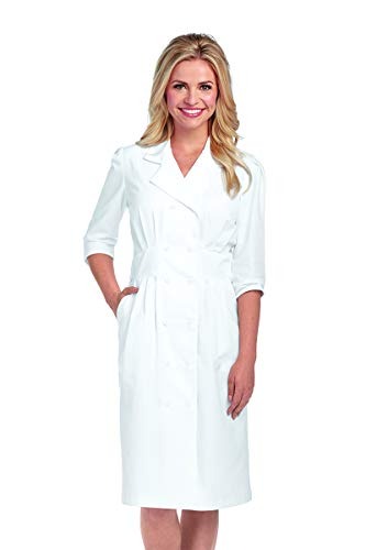 Barco Prima 58505 Double Breasted Button Front Dress White 2XL