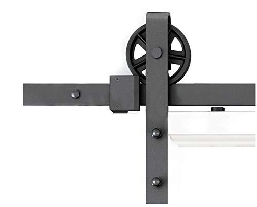 DIYHD 6.6ft Big Spoke Wheel Sliding Barn Wood Door Interior Closet Door Kitchen Door Track Hardware by DIYHD
