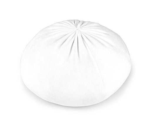 Price comparison product image Easyflower Peg Hammer Creative Gift Simulation Chinese Big Meat Buns Plush Doll Pillow (White)