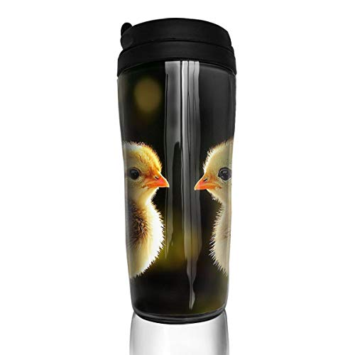 Laki-co Small Chick Stainless Steel Mug Insulated Both Cold Hot Beverage Cup Vacuum Sealed Drink Bottle for Home Outdoor 350ML ()