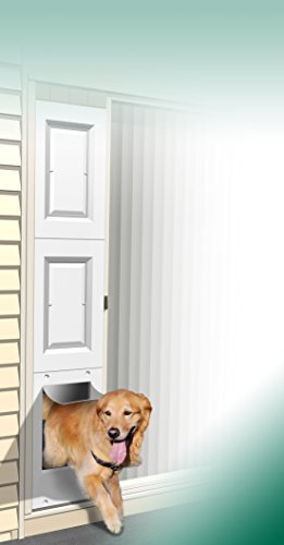 Wedgit Portable Pet Portal Pet Door Panel with Removable Raised Panel Inserts for Wood & Vinyl Sliding Glass Patio Doors 76' to 80' tall