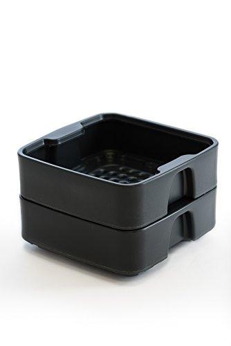 HOT FROG Living Composter - Expansion Tray Set (Slate Grey)