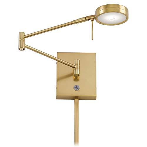 George Kovacs P4308-248, 1 Light LED Swing Arm Wall Lamp, Honey Gold