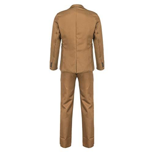 Wolfleague Pantalon De Basique Slim Chemise Blouse Longues Coat Kaki Tops Ensemble Costume Manches Homme Original Blazer Esprit rrTzq