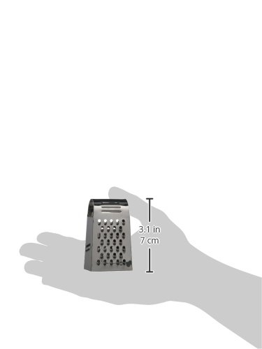 17 x 10 x 7 cm Stainless Steel Silver IBILI Mini Grater with 4 Sides