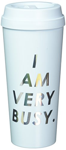Ban.do Hot StuffI Am Very Busy Ice Blue Thermal Mug, Multicolor