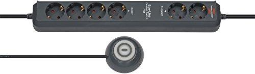 Brennenstuhl Eco-Line Comfort Switch Plus 6-fach, schwarz, 1159560516