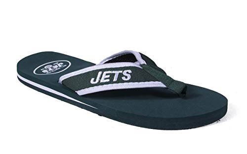Contours and Contour Feet Flip Officially Jets NFL New Flops Licensed York Comfy Happy Feet wTfnScOxnq