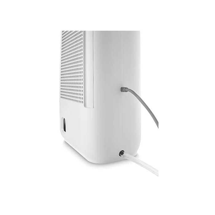 31KC2gD3oHL CAPACIDAD DESHUMIDIFICACIÓN: puede extraer hasta 6 L diarios, incluso a una temperaturacon de 32º y un 80 % de humedad PANTALLA LCD: en la parte superior posee un panel de control iluminado con botones sencillos fáciles de manejar SILENCIOSO: este deshumidificador es silencioso y, por ello, es óptimo para cualquier habitación de la casa, incluso puedes usarlo mientras duermes