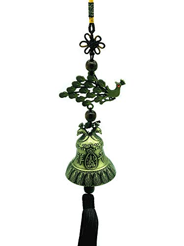 Betterdecor Feng Shui Peacock Bird Wind Chime Hanging for Love Cure (with a Bag)