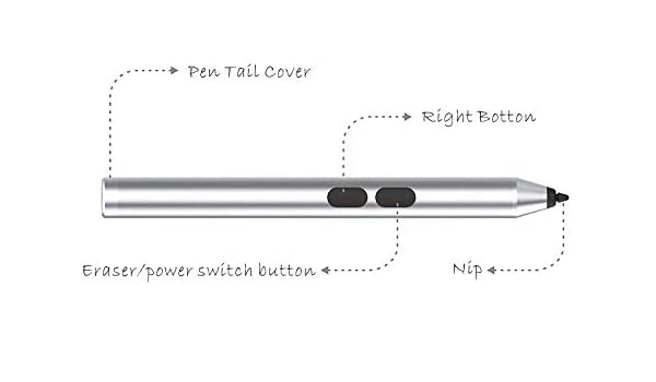 Broonel Active Stylus Compatible with The Sony VAIO Tap 11 Silver