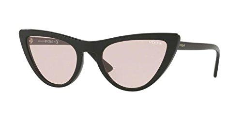 VOGUE Women's Plastic Woman Cateye Sunglasses, Black, 54.01 - Women Glasses Frames Vogue For