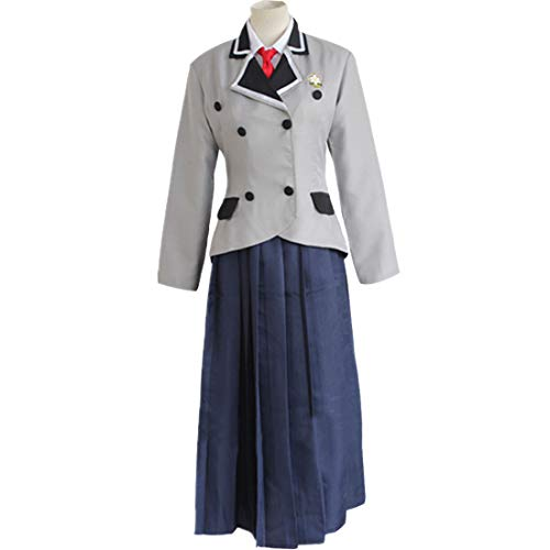 qyy Anime Cosplay Costume Womens Halloween Costume Jacket Skirt and Tie,Clothing Set-S