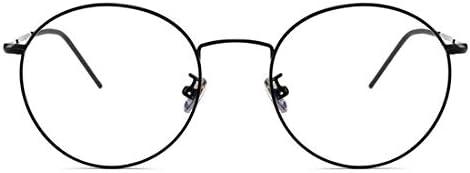 H54eru1z ヴィンテージメタルフレームノンスリップシリコーンスリーブさんの男性の非処方眼鏡 6awa23z (Color : Black)