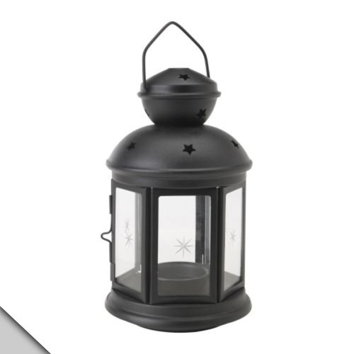 IKEA - ROTERA Lantern For Tealight, Black