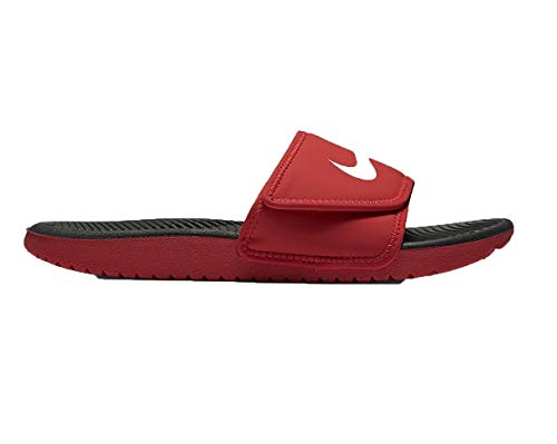(Nike Boys Kawa Adjust Slide(GS/PS) #819344-600 (12 Little Kid M) Red/White)