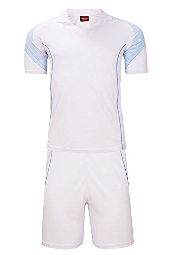 分割ドレスミキサーKINDOYO メンズ 男性 半袖 tシャツ ショットパンツ ランニング 運動服 アスレチック ジム バドミントン ピンポン スーツ ホワイト XL 身長:160-165cm