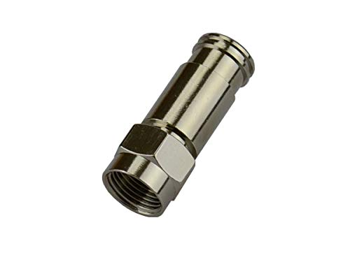 Monoprice RG-6 Quad Universal F-Connector, 25 Pack (F Monoprice Connector)