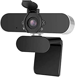 Tobeape HD 1080P Webcam with Microphone,360° Rotation USB Plug & Play,for Pc Mac, Desktop Computer, Used for Conferences, Video Calls, YouTube, Live Broadcast(with Privacy Shutter)