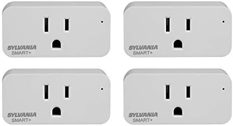 SYLVANIA SMART+ WiFi Plug, On/Off, White, Works with Alexa and Google Assistant, 4 Pack