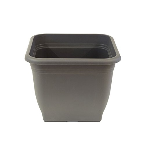 greemotion Plastic Flower Pot Pia – Plant Pot – Large Planting Pots – Square Flower Pot 76,5 l – Large Garden Pots…