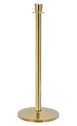 QueueWay - QWAY310-2P - Queueway Classic 310 Classic Post Polished Brass Effect (Set of 2)