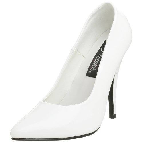 Pleaser Damen Seduce-420v Pumps Weiß (Weiß (Wht Pat))