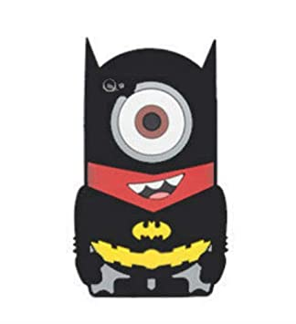 136f489276d Desconocido Funda para iPhone 5, iPhone 5s, iPhone SE, Superheroe Batman  Minion Un Ojo Disfrazado Dibujos DC Comics, Carcasa iPhone Superheroes  Minions ...