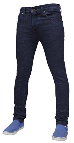 True Face - Herren Jeans Dehnbar Hauteng Reißverschluss Hosenschlitz Baumwolle Hose - TF021 - Dunkelblau, 34WX34