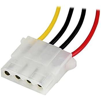 lp4powext12 12 inch molex lp4 m f 4 pin power extension cable home. Black Bedroom Furniture Sets. Home Design Ideas